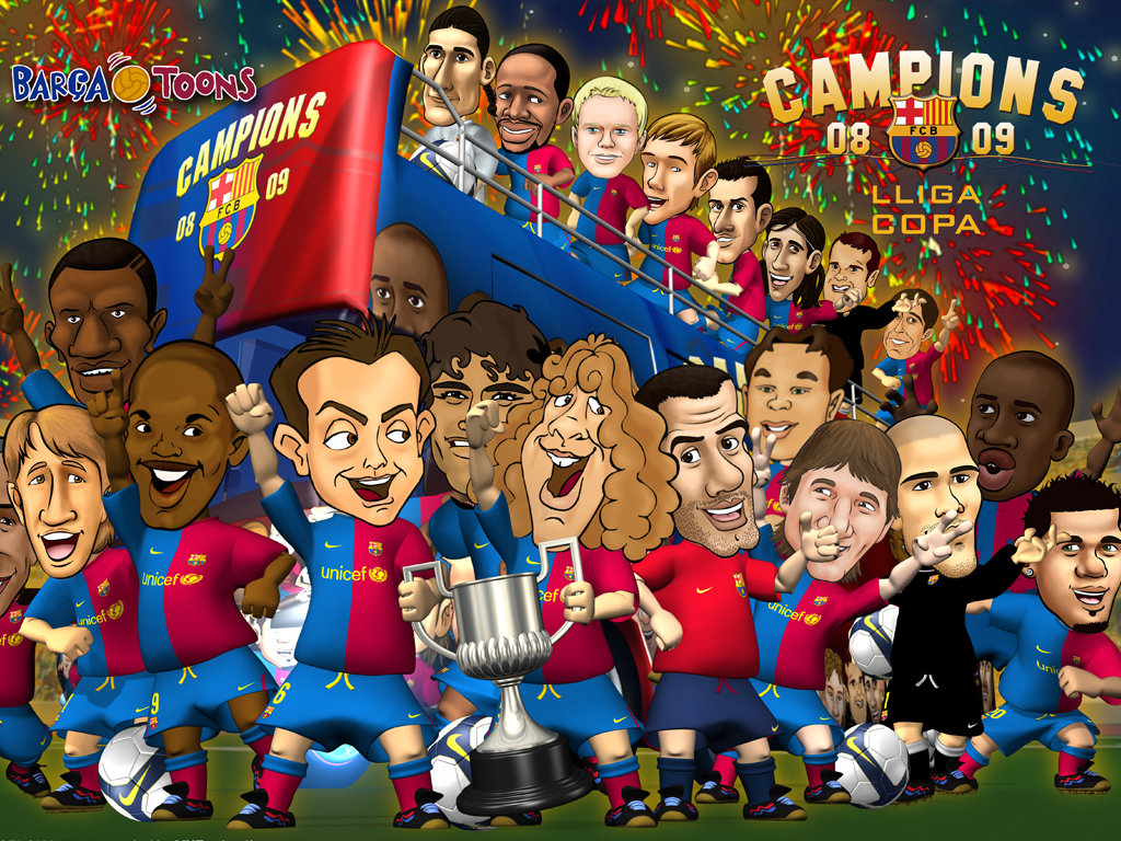campions_toons_fc_barcelona